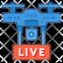 Live Drone Broadcast Icon