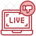 Live Feedback Live Review Live Rating Icon