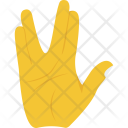 Live Long Gesture Icon