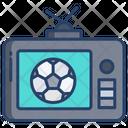 Live Match Football Match Broadcasting Icon