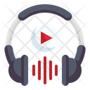 Headphone Video Play Button Icon