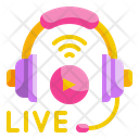 Live Music Headphone Communications Icon