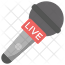 Live News Audio Broadcasting Live Music Icon
