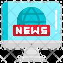 Live News Broadcast News Report Icon