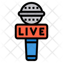 Microphone Report Live Icon