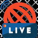 Live News Broadcasting Icon