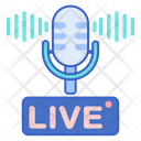 Live Podcast Microphone Media Icon