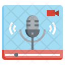 Live Podcast Music And Multimedia Broadcast Icon