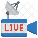 Live Production Play Button Camera Icon