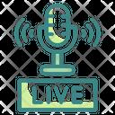 Live Recording Microphone Recording Icon