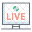 Sports Broadcaster Online Football Live Icon