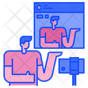 Live Steam Video Streaming Live Icon