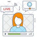 Live Stream Online Communication Online Video Icon