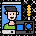 Live Vlog Technology Icon