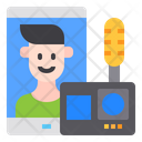 Live Vlog Technology Icon
