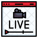 Streaming Live Stream Icon