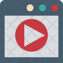 Live Streaming Video Player Media Player Icon