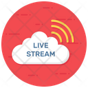 Live Streaming Online Streaming Broadcast Media Icon