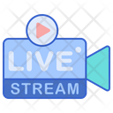 Live Streaming Live Video Live Video Shoot Icon
