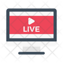 Live Streaming Video Icon