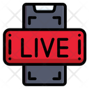Smartphone Live Streaming Music And Multimedia Icon