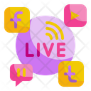 Live Streaming Social Media Share Icon