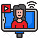 Live Streaming Live Smartphone Icon