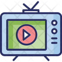 Live Streaming Mass Media Television Advertising Icon