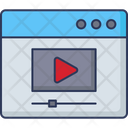 Live Streaming Online Video Video Stream Icon