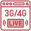 Live Streaming 4 G 3 G Icon