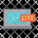 Live Social Media Live Telecast Broadcasting Icon