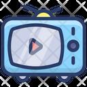 Live Telecast Broadcasting Tv Ad Icon