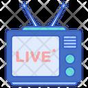Live Tv Live Boradcast Live Channel Icon