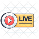 Live Video Video Video Streaming Icon