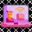 Live Video Video Screen Icon
