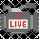 Live Video Live News Camera Icon