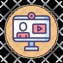 Live Webinar Conference Webcam Icon