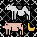 Livestock Climate Change Farm Icon