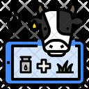 Livestock Farming Technology Iot Biosensor Cattle Farm Lactation Cattle Fertility Icon