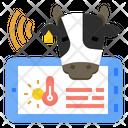 Heat Stress Livestock Monitoring Livestock Farming Iot Cattle Stress Trembling Stressful Trigger Icon