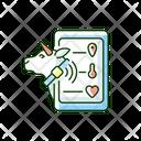 Livestock Monitoring Cattle Icon
