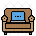 Work From Home Sofa Living Room Icon