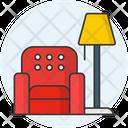 Living Room Lamp Sofa Icon
