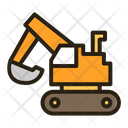 Loader Excavator Digger Icon