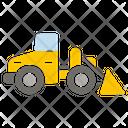 Loader Excavator Forklift Icon