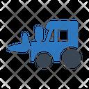 Crane Tractor Machinery Icon
