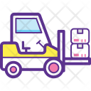 Loading Forklift Icon