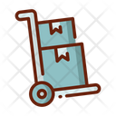 Loading Package Package Trolley Delivery Boxes Icon
