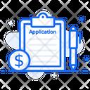 Loan Application Loan Papers Loan File Icon