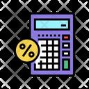 Loan Calculator Calculating Loan Icon